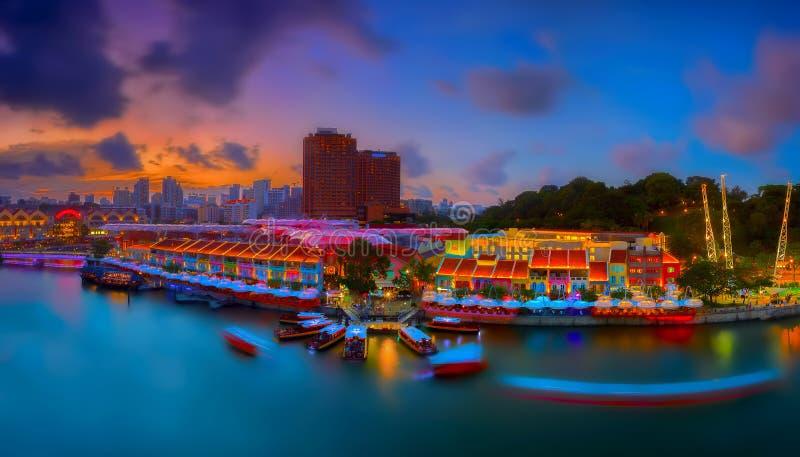 Clarke Quay Singapore zdjęcie royalty free