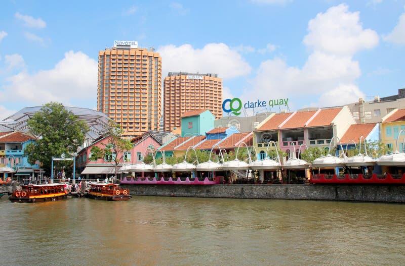Clarke Quay, Singapur - obrazy royalty free