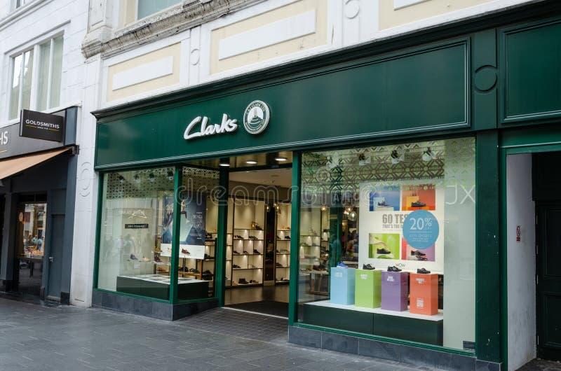 Clarks鞋店在利物浦 免版税库存照片