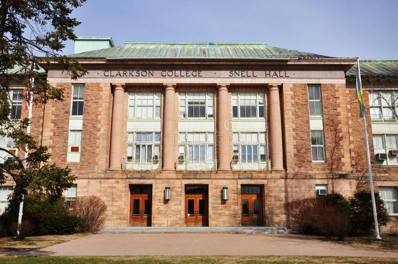clarkson πανεπιστήμιο αιθουσών sne στοκ εικόνα