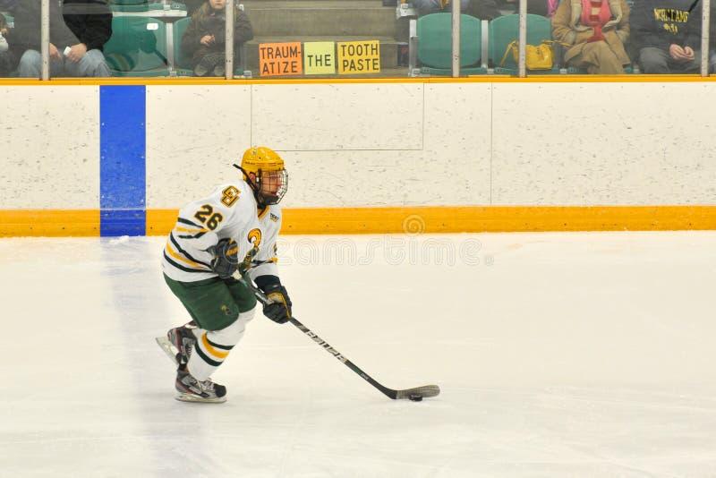 Clarkson Andrew Himelson im NCAA-Hockey-Spiel stockfoto