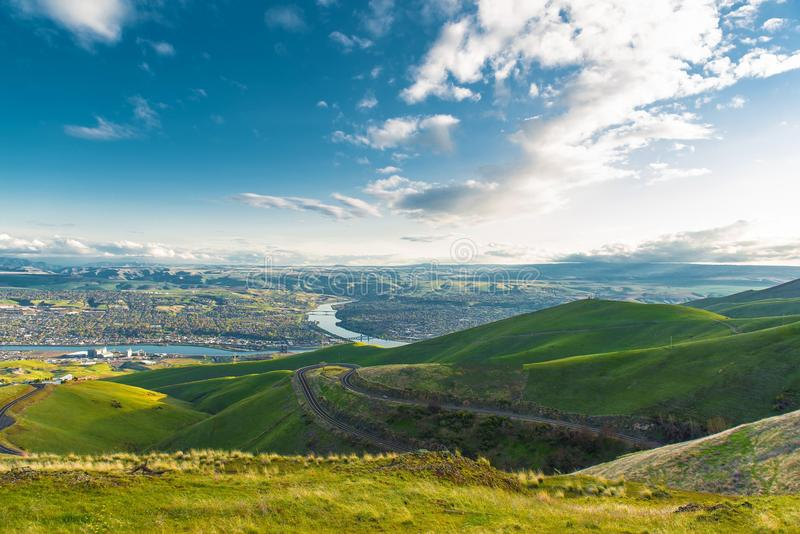 Clarkston Washington. And Lewiston Idaho Border Cities. United States stock photos