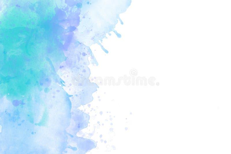 Claro - backround azul da aquarela isolado no branco ilustração do vetor