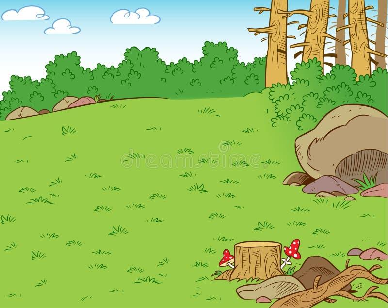 Download Claro del bosque ilustración del vector. Ilustración de arbusto - 41904022