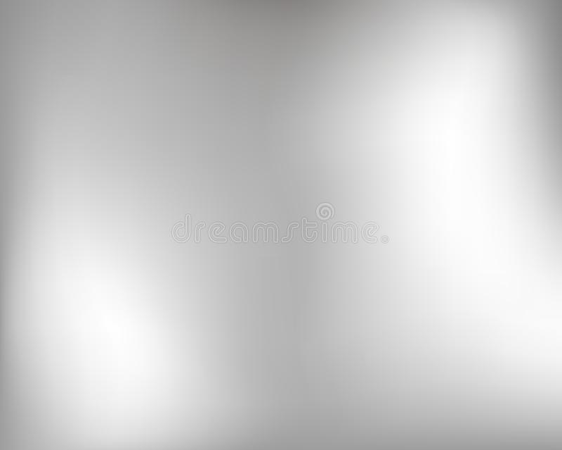 Claro - fundo liso cinzento Fundo liso da textura do metal de prata ilustração royalty free