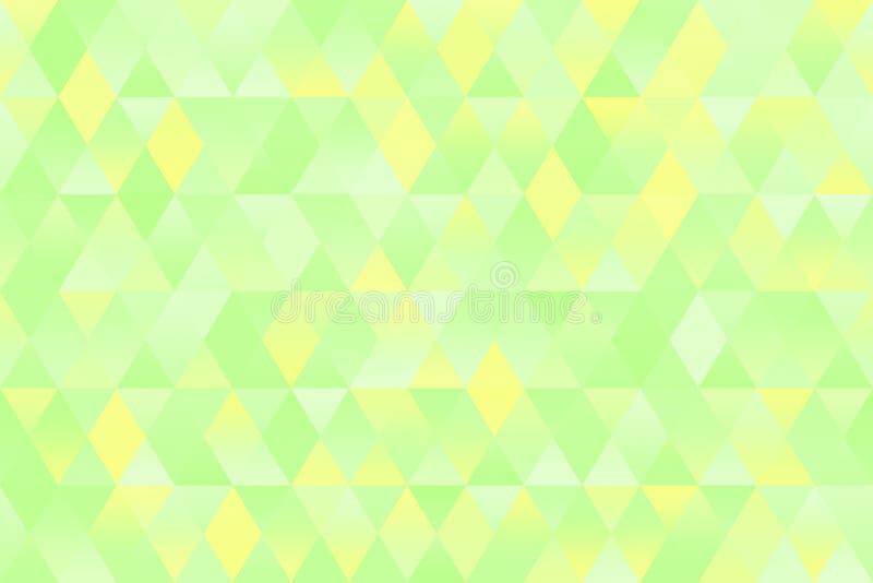 Claro - fundo pastel geométrico sem emenda verde azul amarelo do rombo da mola do teste padrão do triângulo imagens de stock royalty free
