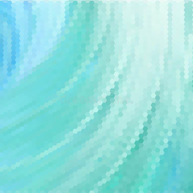 Claro - hexágonos azuis do vetor abstraia o fundo Disposi??o para anunciar Eps 10 ilustração do vetor