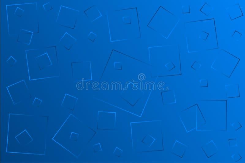 Claro - ilustra??o azul do vetor, que consiste em ret?ngulos de tamanhos diferentes ilustração stock