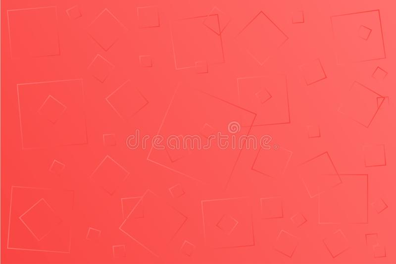 Claro - ilustra??o cor-de-rosa do vetor, que consiste em quadrados de tamanhos diferentes ilustração royalty free