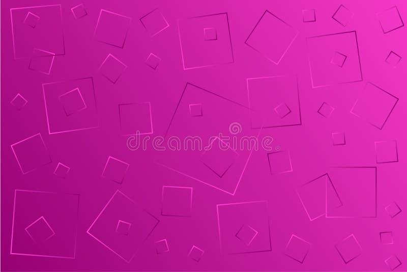 Claro - ilustra??o cor-de-rosa do vetor, que consiste em quadrados de tamanhos diferentes ilustração do vetor