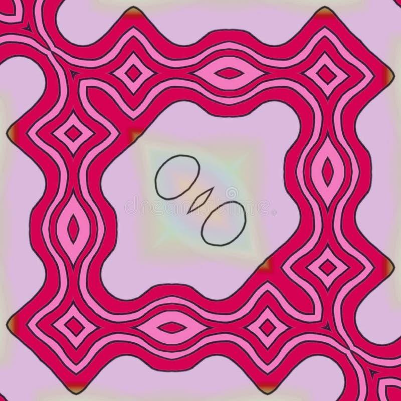 Claro - linhas cor-de-rosa fundo ilustração stock