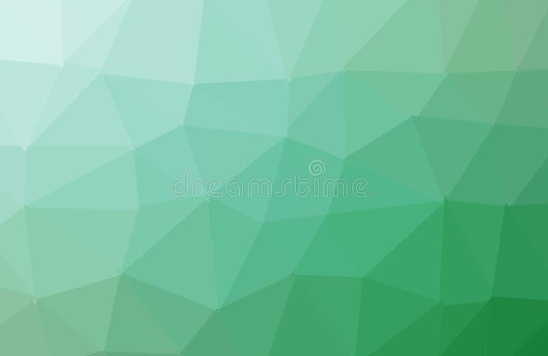 Claro - molde poligonal do sumário verde do vetor Ilustra??o poligonal de brilho, que consistem em tri?ngulos Completamente novo ilustração royalty free