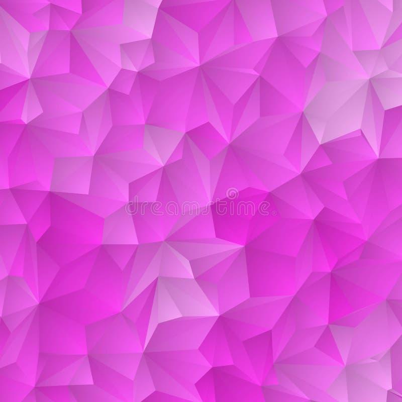 Claro - rosa, molde poligonal do vetor azul Ilustra??o colorida no estilo abstrato com tri?ngulos Teste padrão Textured para ilustração stock