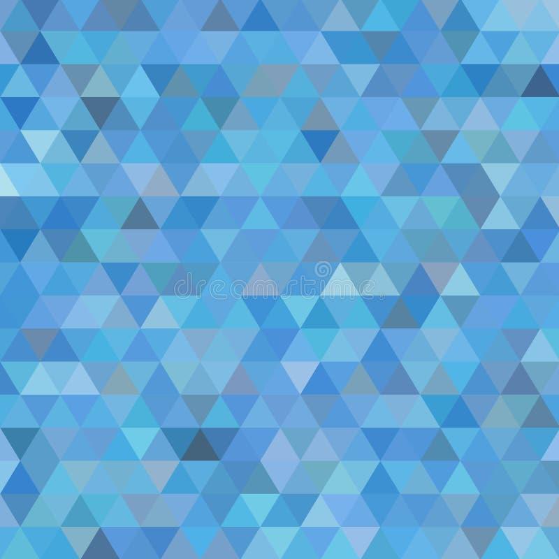 Claro - tampa triangular do vetor azul Ilustra??o geom?trica no estilo do orig?mi com inclina??o Teste padr?o triangular para seu ilustração do vetor