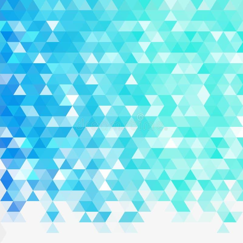 Claro - teste padr?o azul dos tri?ngulos do inclina??o do vetor Uma amostra com formas poligonais Teste padr?o triangular para se ilustração royalty free