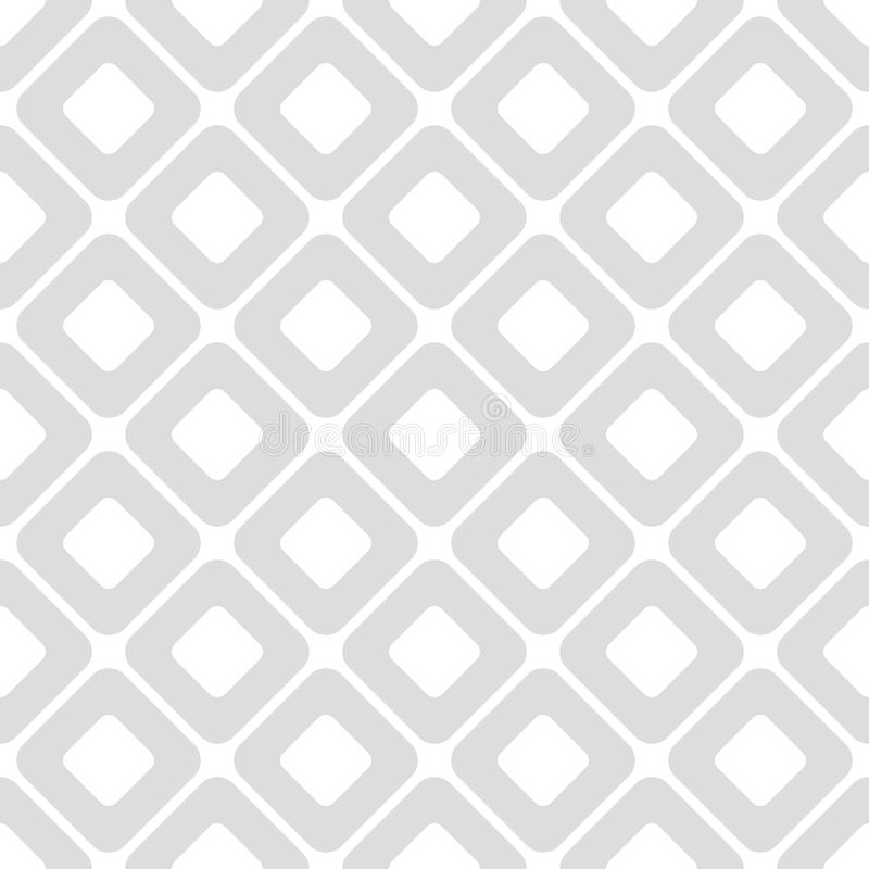 Claro - teste padrão sem emenda geométrico cinzento do vetor com formas do rombo ilustração stock