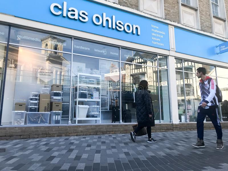 Clas Ohlson-opslag royalty-vrije stock afbeelding