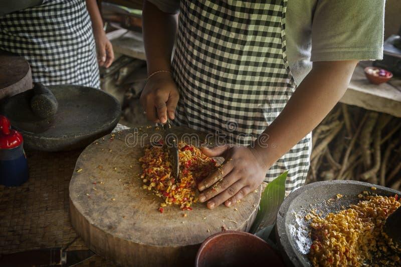 Clase de cocina del Balinese imágenes de archivo libres de regalías