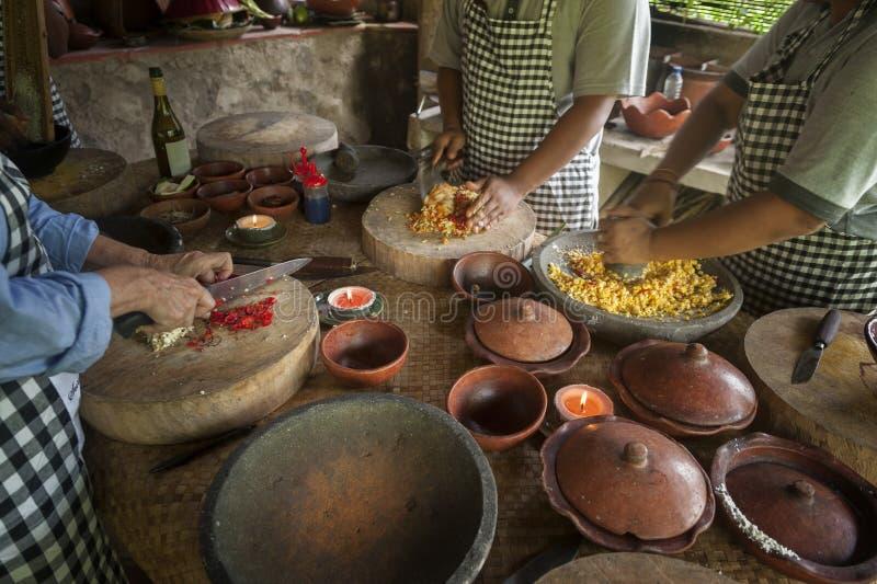 Clase de cocina del Balinese fotografía de archivo libre de regalías