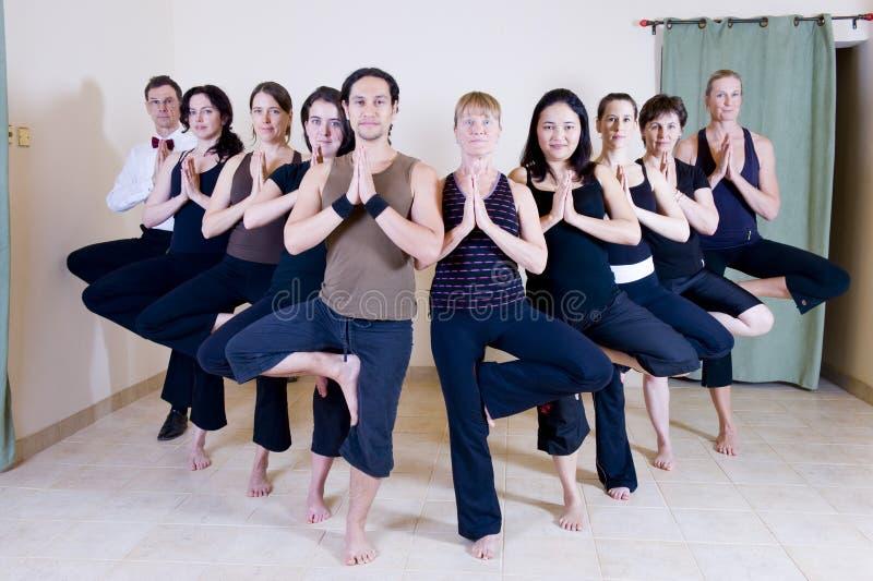 Clase de la yoga fotografía de archivo libre de regalías