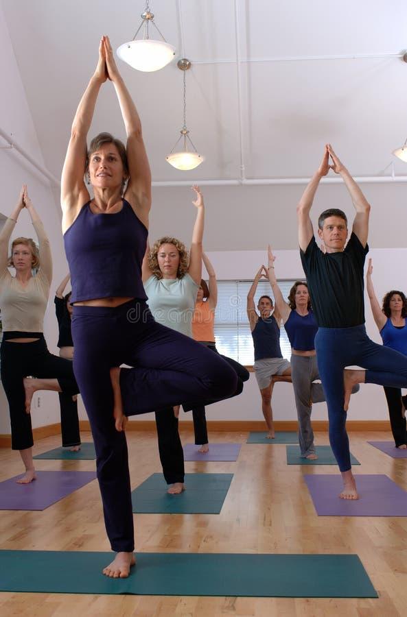 Clase de la yoga foto de archivo