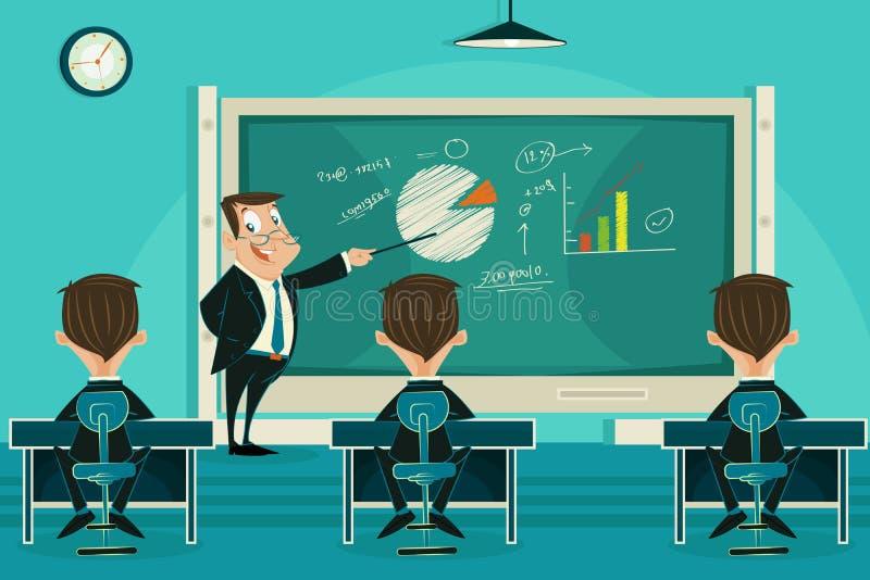 Clase de presentación del negocio stock de ilustración