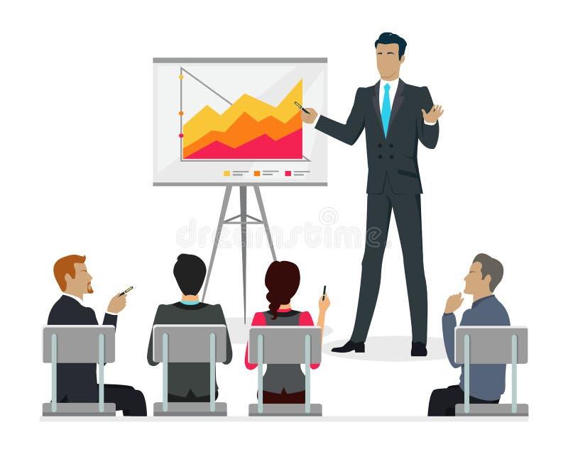 Clase del amo de Infographic Presentación del escrito del personal del entrenamiento ilustración del vector