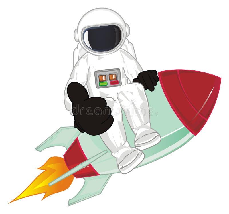 Clase del gesto del woth del cosmonauta libre illustration