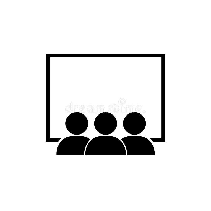 Clase/icono del seminario/de la presentación stock de ilustración