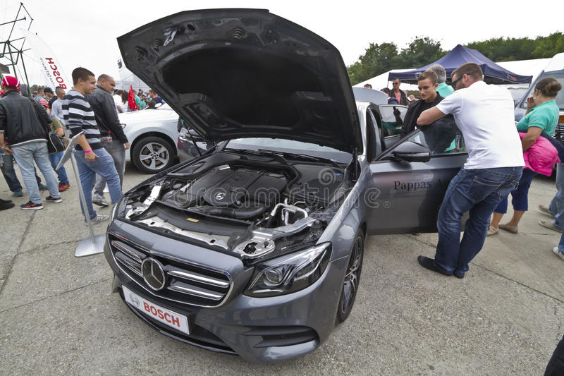 Clase Limuzin de Mercedes-Benz E imagen de archivo libre de regalías