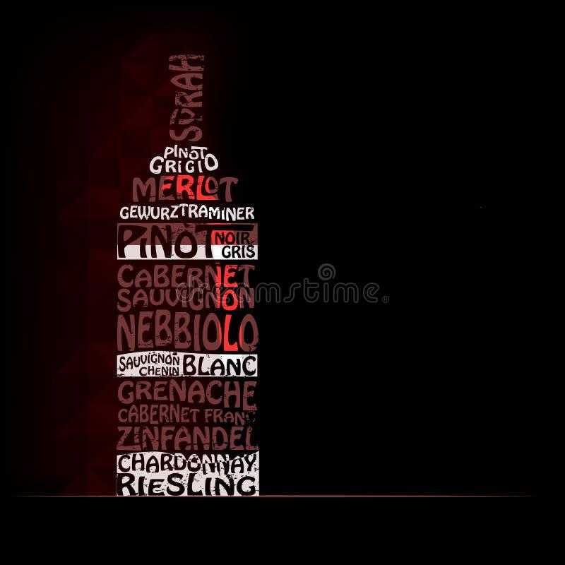 Clases de vino blanco rojo y imagen de archivo libre de regalías