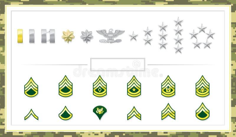 Clases del ejército stock de ilustración