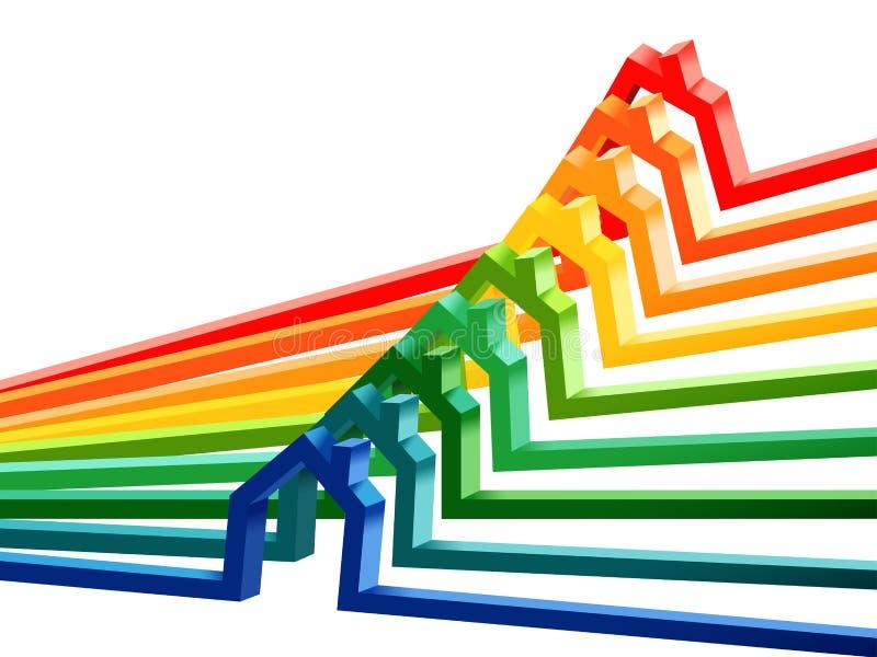 Clases del funcionamiento de la energía del edificio, diagrama abstracto libre illustration