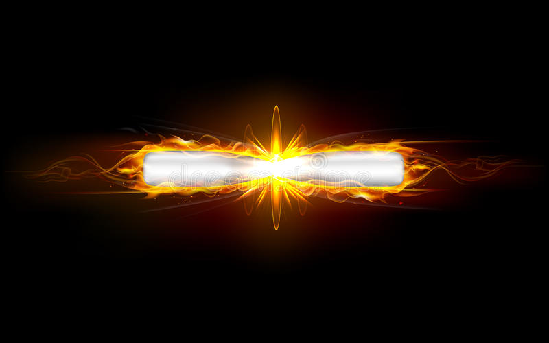 Clash of Bullets. Illustration of clash of fiery bullet producing fire flames vector illustration
