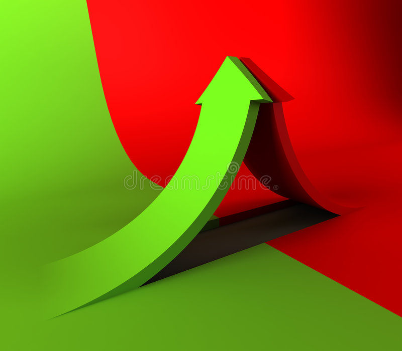 Download Clash of the two arrows stock illustration. Image of ascending - 2234031