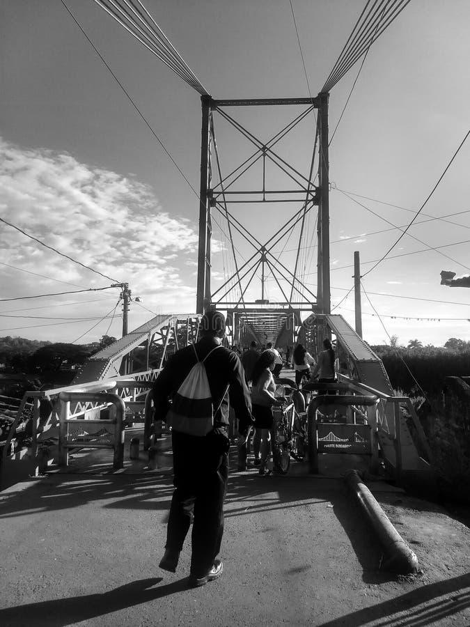 Clasic figure and clasic bridge in Virginia risaralda stock photo