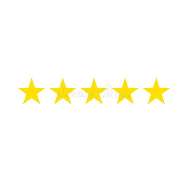 Clasificación de cinco estrellas Estrella del vidrio verde del vector Bandera de la evaluación del comentario del consumidor o de libre illustration
