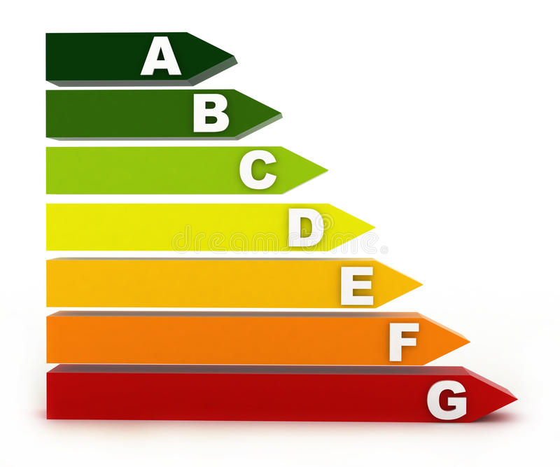 Clasificación de la energía stock de ilustración