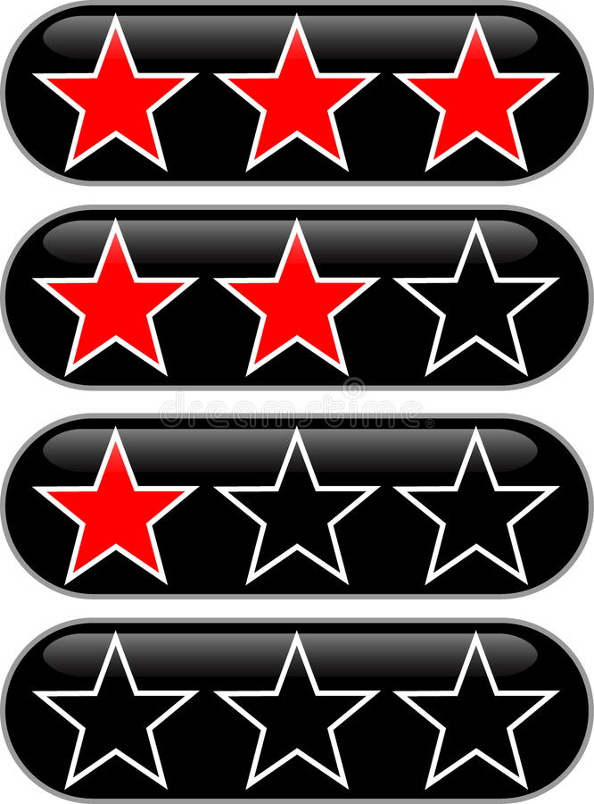 Clasificación de las estrellas ilustración del vector