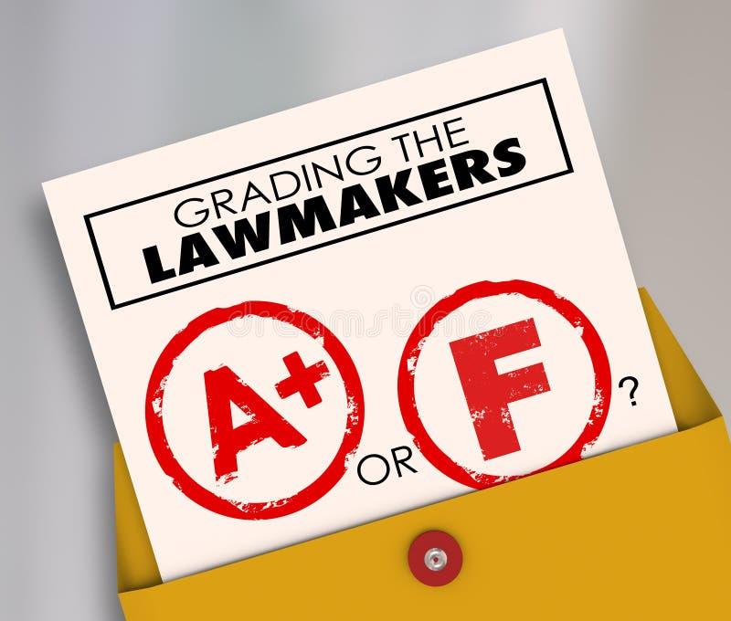 Clasificación de los legisladores A o de los cargos electos de F fotos de archivo libres de regalías