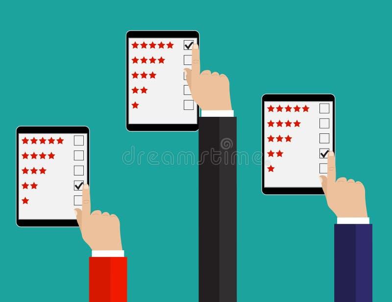 Clasificación en el ejemplo del servicio de atención al cliente ilustración del vector