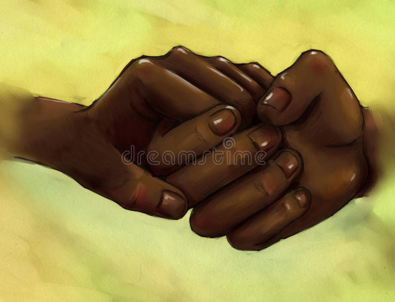 Download Clasped Hands - People With Dark Skin Stock Illustration - Illustration: 40728478
