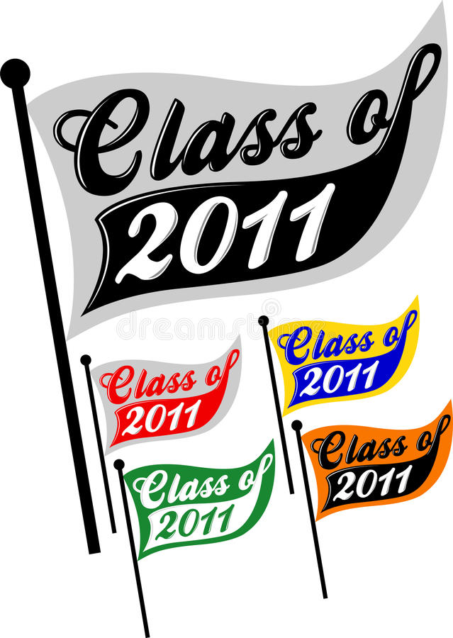Class of 2011. Logotype illustration of a pennant for the school graduation class of 2011 royalty free illustration