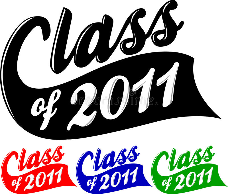 Class of 2011. Logotype illustration for the school graduation class of 2011 vector illustration