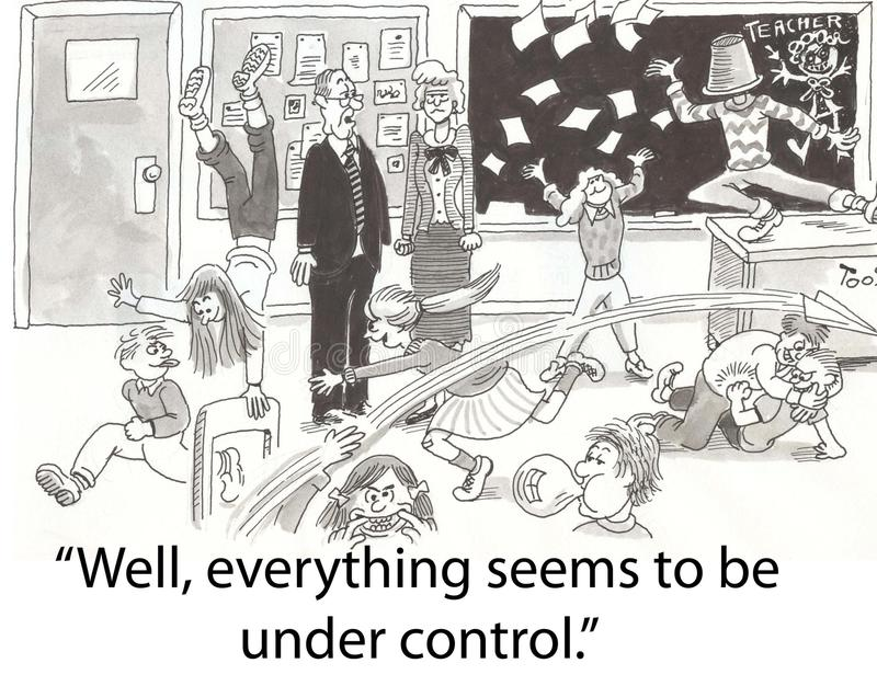 Class control royalty free illustration