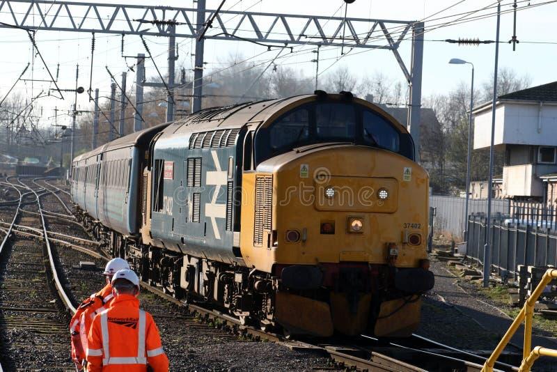 Class 37 diesel-electric locomotive at Carlisle royalty free stock image
