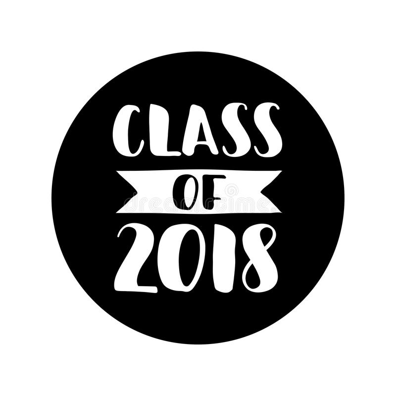 Class of 2018 hand drawn lettering graduation label vector element class of 2018 hand drawn lettering graduation label vector element for graduation design for greeting invitation card stopboris Images