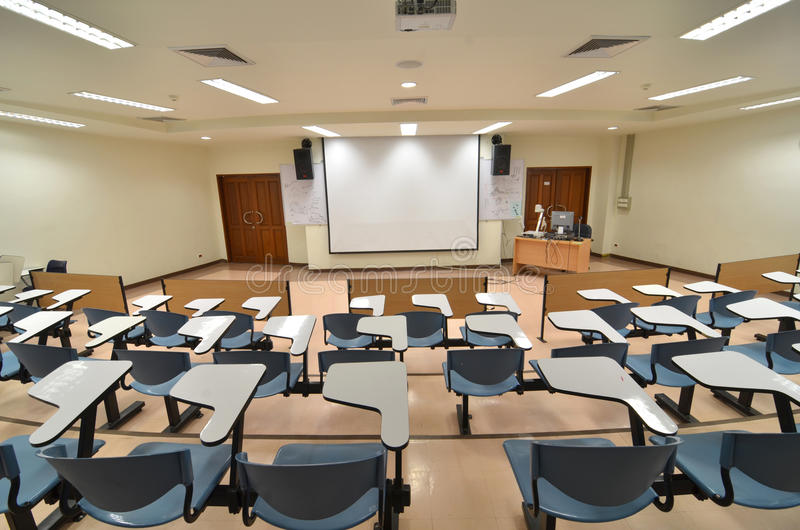 The class room. Class room and school supplies royalty free stock photo