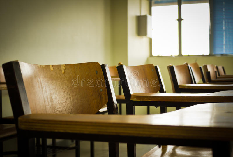 Class room. In a day stock photo