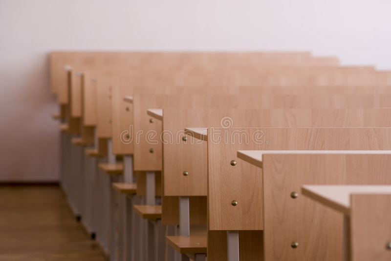 Class room. Low depth of field royalty free stock photo